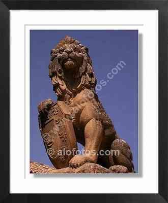 Escultura, león, Úbeda, jaén